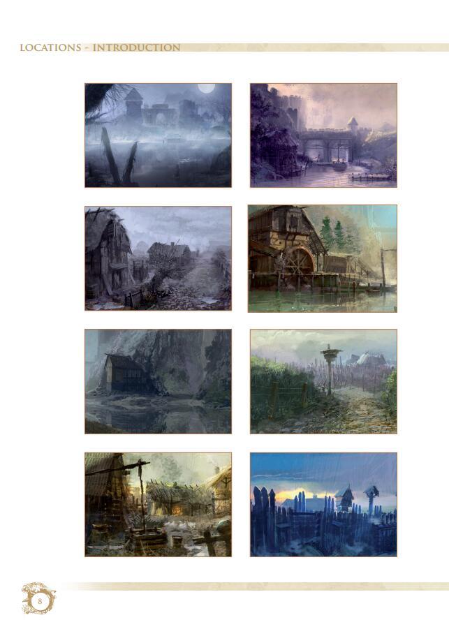 The Witcher 1 Artbook《巫师》游戏设定集   场景