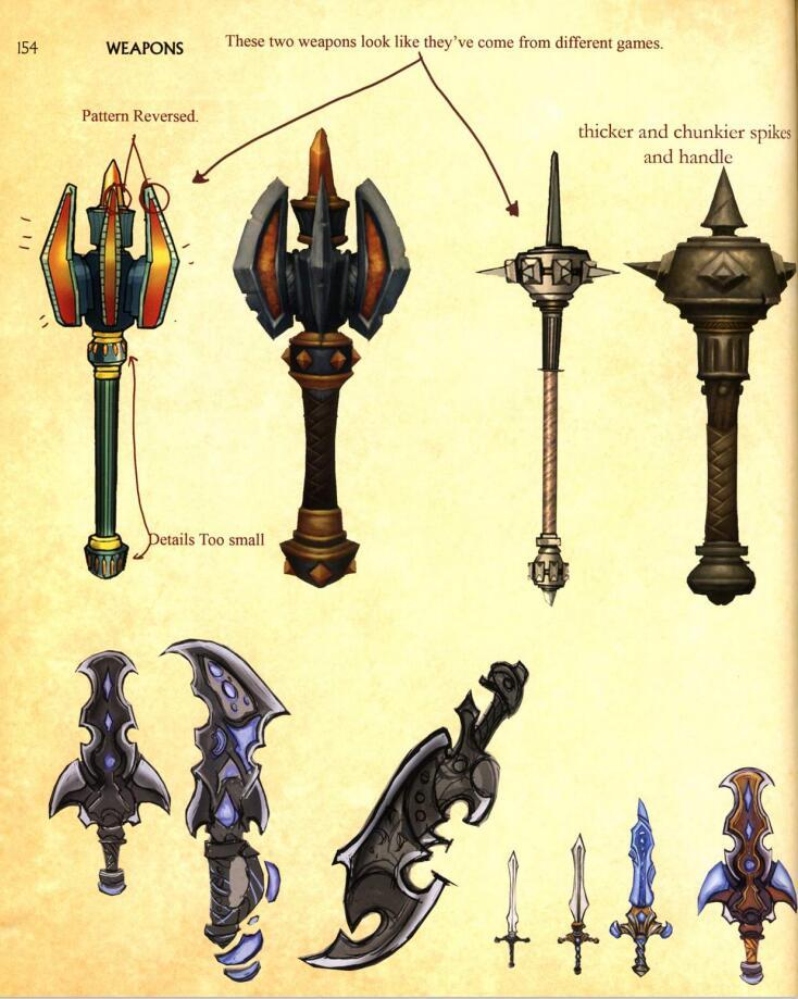 The Art Of World Of Warcraft:Burning Crusade(魔兽世界:燃烧的远征)艺术设定 武器