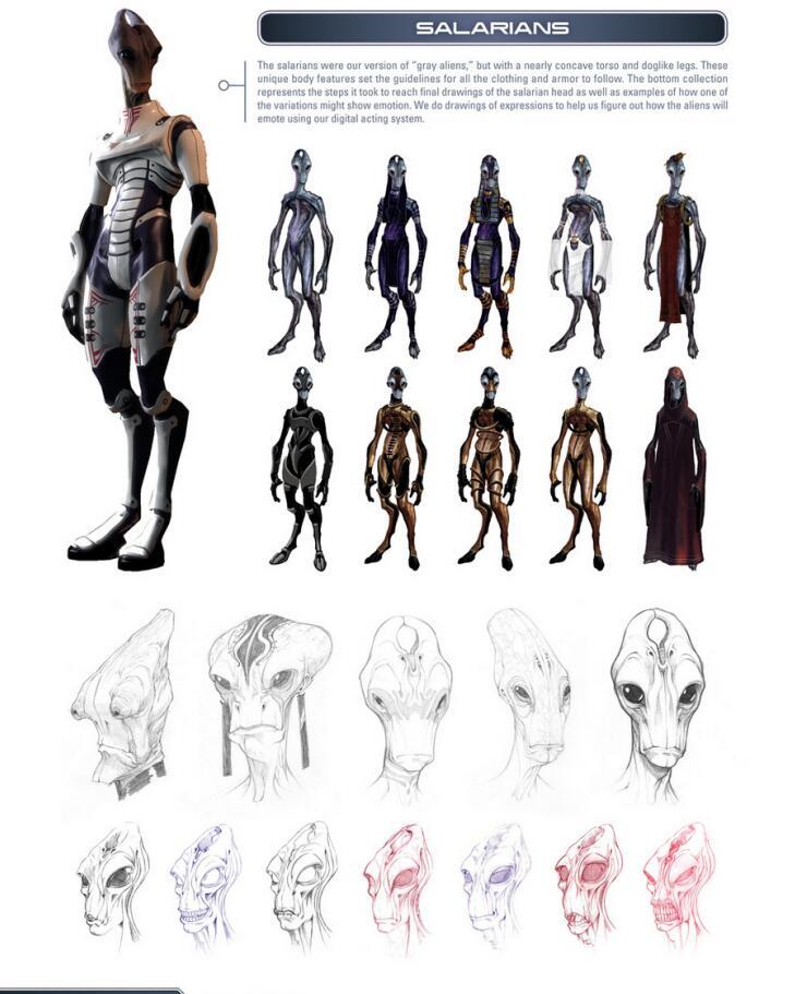 The Art of the Mass Effect Universe 质量效应宇宙设定集 外星人