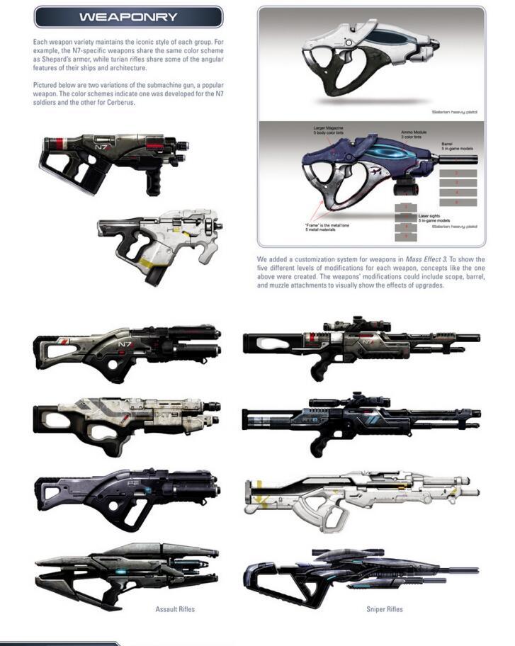 The Art of the Mass Effect Universe 质量效应宇宙设定集 武器