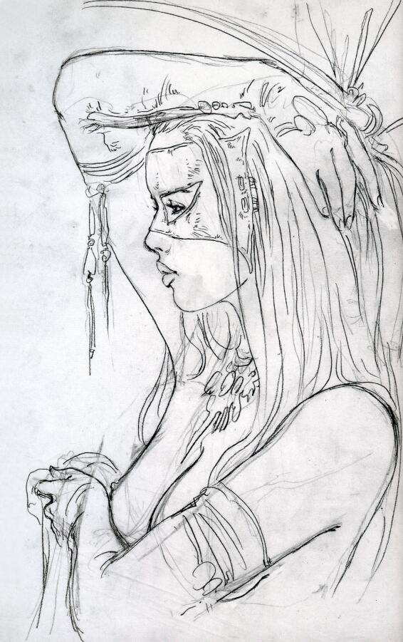 Luis Royo-Prohibited Sketchbook (路易斯·罗佑-禁书速写)